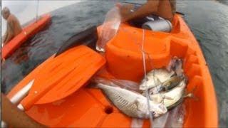 getlinkyoutube.com-Xerelete, Lula e Corvina na Praia Vermelha - Pesca com Caiaque - Kayak Fishing - Leogafanha - Dicas