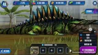 getlinkyoutube.com-SARCOSUCHUS - LEVEL 40 - Jurassic World The Game