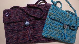 كروشية شنطة  سهله  Easy crochet purse