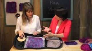 getlinkyoutube.com-Easy wet felting with Palm Washboard