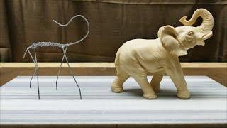 getlinkyoutube.com-Sculpting an Elephant, part 1: Armature!