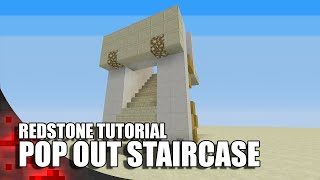 getlinkyoutube.com-Minecraft: Pop Out Staircase (3 Wide)