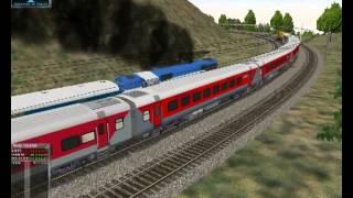 MSTS parallel run with Rajdhani express