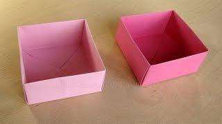 getlinkyoutube.com-Schachtel mit Deckel basteln mit Papier - Origami Box falten - Basteln Ideen