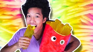 getlinkyoutube.com-DIY GIANT JELLO GUMMY FRENCH FRIES!!!