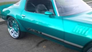 "getlinkyoutube.com-Kandy Teal Chevrolet Camaro Z28 on 26"" Forgiato Grasseto's!"