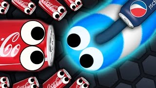 getlinkyoutube.com-Slither.io - 500 COCA COLA SNAKES vs. 1 PEPSI SNAKE // Slitherio Gameplay! (Slitherio Funny Moments)
