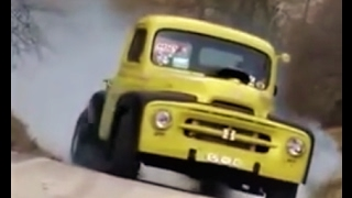 ratrod hotrod truck with a 383 burnout video 50s body style rattruck