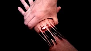 getlinkyoutube.com-Aie.. To traumatize my poor Hand - 3D Hand Art