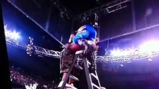 getlinkyoutube.com-WWE: John Cena gives Edge an AA off a ladder through 2 tables
