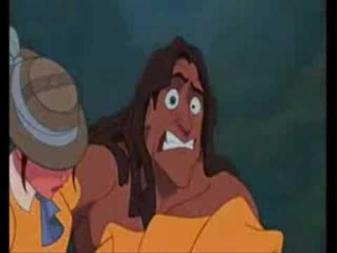 Funny Tarzan and Jean-Tarzan meet Jane