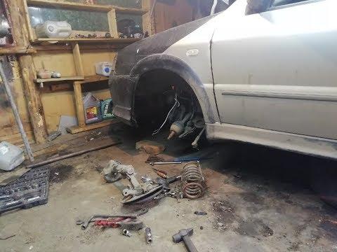 Замена шруса, сальника кпп, опоры Volkswagen Sharan на chery amulet в гаражных условиях