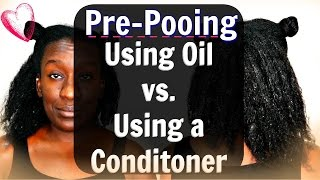 getlinkyoutube.com-Pre-pooing Natural Hair: Using Coconut Oil vs Conditioner Before you Shampoo (Type 4 Hair)