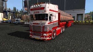 getlinkyoutube.com-ETS 2 - Scania R560 Gronbeck + Goldhofer Trailer