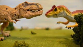 getlinkyoutube.com-T-Rex vs Allosaurus | Jurassic World Dinosaur Fight