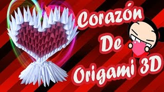 getlinkyoutube.com-Como hacer un corazòn de origami 3d/Origamileo