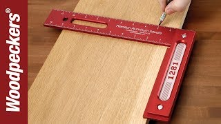 "getlinkyoutube.com-Woodpeckers Precision 12"" Woodworking Square"