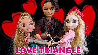 getlinkyoutube.com-Ever After High Love Triangle Story Episode Ashlynn Ella Apple White FIGHT over Hunter Huntsman