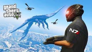 getlinkyoutube.com-GTA 5 PC Mods - MASS EFFECT MOD w/ REAPER SHIP! GTA 5 Mass Effect Mod Gameplay! (GTA 5 Mod Gameplay)
