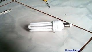 getlinkyoutube.com-Como ligar um flyback com reator de lampada fluorescente 20 Watts