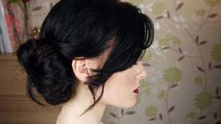 getlinkyoutube.com-Messy Side Bun Hair Tutorial