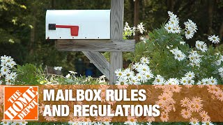 USPS rules and Regulations about where a mailbox can go in a home's yard or front door