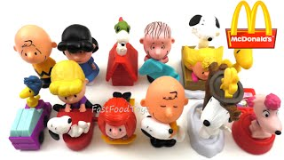 getlinkyoutube.com-2015 McDONALD'S THE PEANUTS MOVIE COMPLETE SET OF 12 HAPPY MEAL KIDS TOYS SNOOPY REVIEW