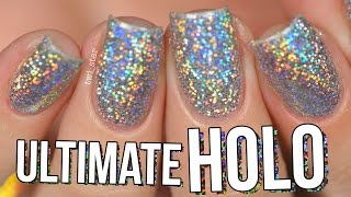 getlinkyoutube.com-Ultimate HOLO Glitter Nails Burnishing Technique - NO Gel! || TWI_STAR
