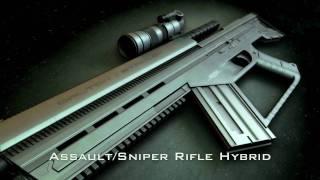 getlinkyoutube.com-NEW Hi-Tech Assault/Sniper Rifle/Machine Gun (3D Gun Animation)