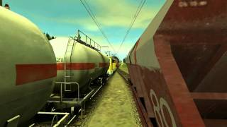 getlinkyoutube.com-Manevra cu un marfar apartinand Rompetrol - Trainz Simulator 2010