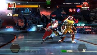 getlinkyoutube.com-Quickest way to defeat Unstoppable Colossus - Marvel: Contest of Champions