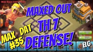 getlinkyoutube.com-Maxed Out Town Hall 7 Base! Maxed Defenses! Balloonion Attack Strategy - Clash of Clans Max Dat #35