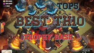 getlinkyoutube.com-TOP 5 TH10 TROPHY BASE - Clash of Clans base layout #4