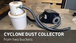 getlinkyoutube.com-DIY: Cyclone Dust Separator From Two Buckets