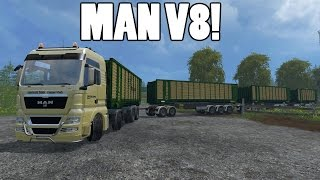 getlinkyoutube.com-Farming Simulator 15 - MAN V8 Road Train