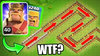 "getlinkyoutube.com-""THE BARBARIAN TRAIN!"" - Clash Of Clans - INSANE MASS TROOP GAME PLAY!"