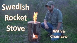 getlinkyoutube.com-How to Build a Swedish Jet Stove (with a Chainsaw)