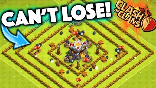 getlinkyoutube.com-Clash of Clans - IMPOSSIBLE TO LOSE BASE! Level 1 Town Hall 11 Defense Troll Base!