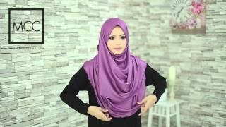 getlinkyoutube.com-Hijab Tutorial for Shawl Adell Glitter Halfmoon and Shawl Alana by MuslimahClothing.com