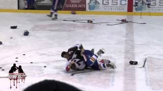 getlinkyoutube.com-Brawl in Warmups Laval vs St George LNAH January 11 2015