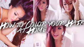 getlinkyoutube.com-How to Dye Your Hair at Home - Drugstore Hair Dye (Red to Purple)