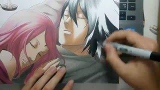 getlinkyoutube.com-Speed Drawing - Uchiha Sasuke and Uchiha Sakura (Naruto)