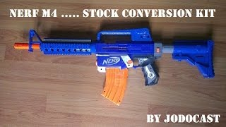 "getlinkyoutube.com-Nerf M4 conversion kit for ""Raider"" stock"