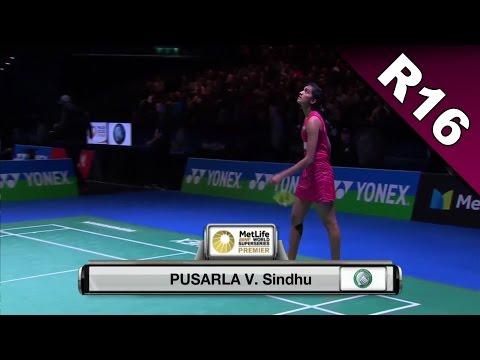 Yonex All England Open 2017 | Badminton R16 | Pusarla V. Sindhu vs Dinar Dyah Ayustine [HD]