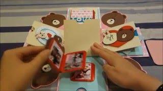 getlinkyoutube.com-禮物盒/爆炸卡 :  熊大 &  兔兔【多樂媽 - 卡片工房】
