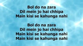 getlinkyoutube.com-BOL DO NA ZARA LYRICS – Azhar | Armaan Malik, Emraan Hashmi