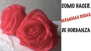 getlinkyoutube.com-COMO HACER ROSAS ORGANZA