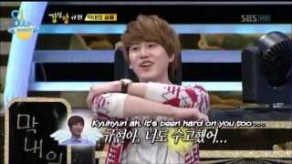 getlinkyoutube.com-Kyuhyun sufferings of the maknae! (Eng/Esp)