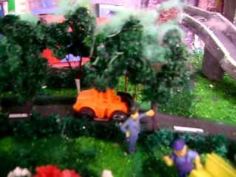 maqueta contaminacion ambiental ,el aire