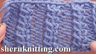 getlinkyoutube.com-Front Cross Cable Stitch Pattern Knitting Tutorial 11 Easy Cable Stitch Patterns
